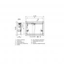 Клапан КЛАД-3-С-550х440-ЭМ(220)