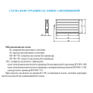 Заслонка алюминиевая VKZ 600х350