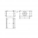 Вентилятор канальный прямоугольный VL 50-25/22-2D
